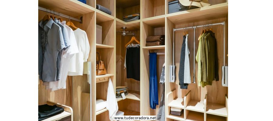 armarios abiertos modernos en madera