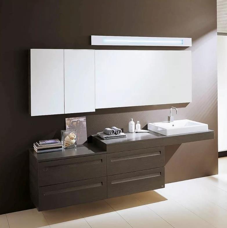 Armario con espejos incluido en baño moderno - Tu Decoradora - Muebles Yecla