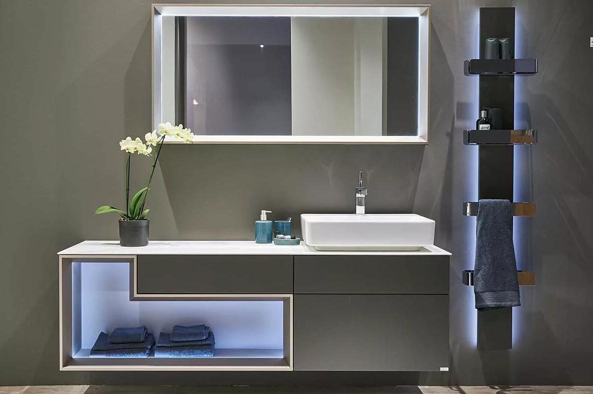 Armario con espejos incluido en muebles de baño