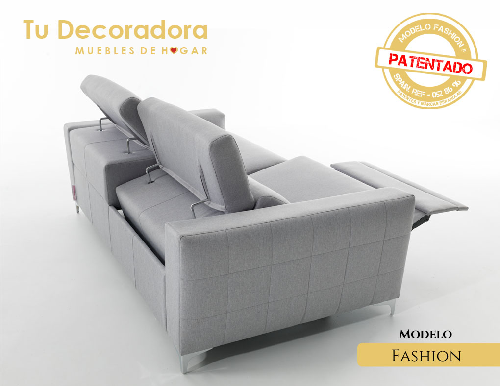 Sofá moderno modelo fashion vista posterior
