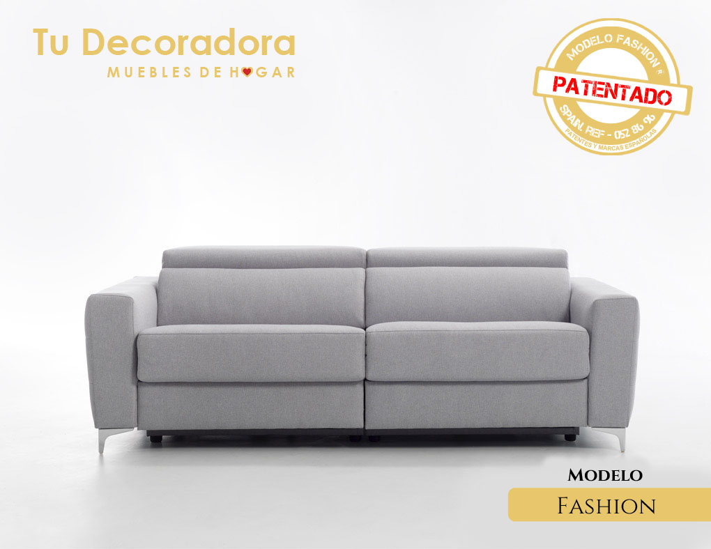 Sofá modelo fashion de frente sin plegar